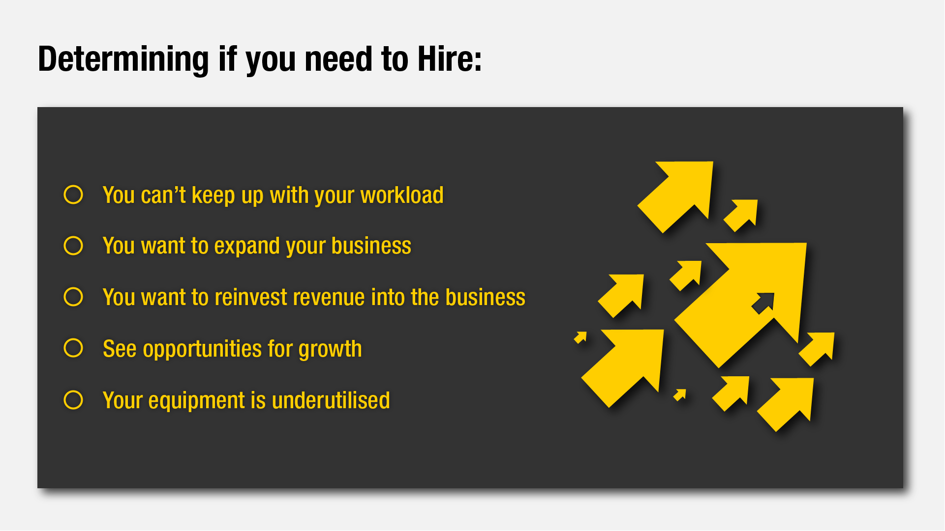 Determining to Hire in your business