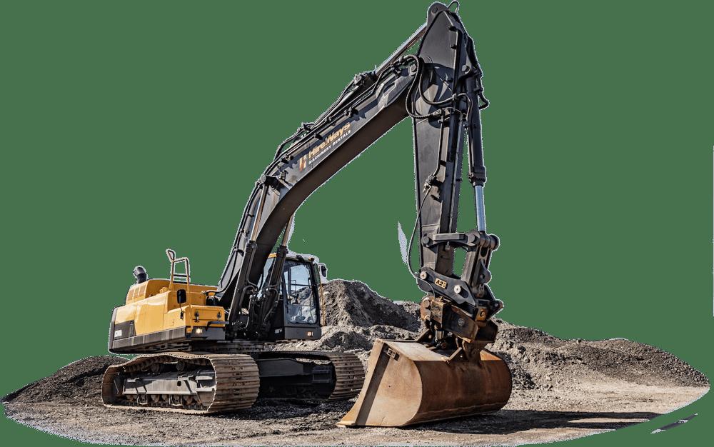 Sure-Grip quick hitch on volvo excavator