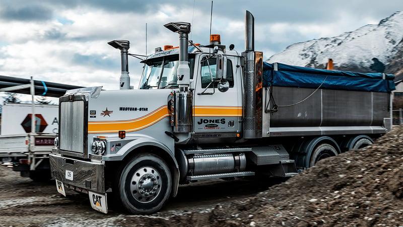Western Star Truck hauling dirt across Queenstown otago