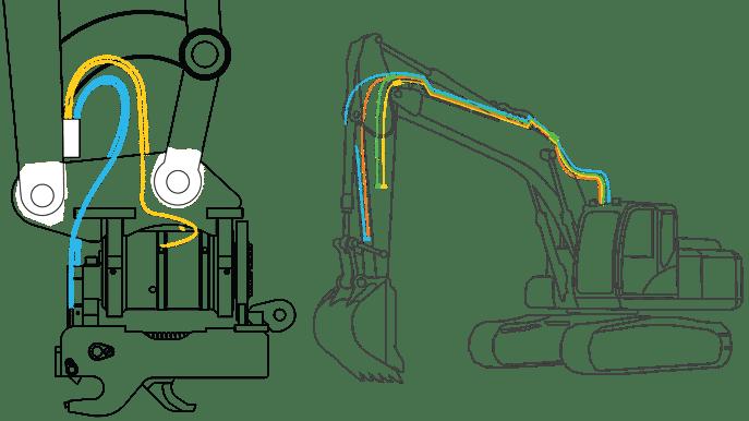 Heli-Tilt Hydraulic Line fittings